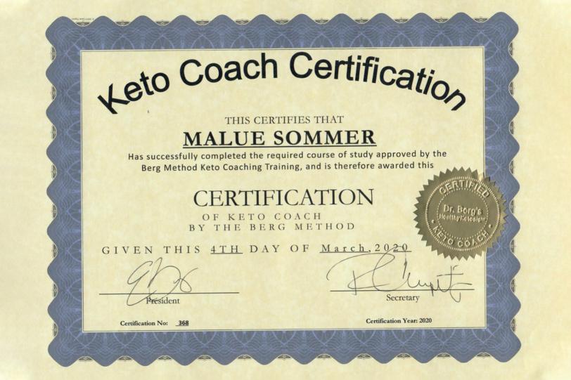 Keto Coach certifikat