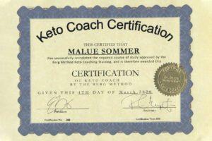 Certifikat for Dr-Berg Keto coach undervisning