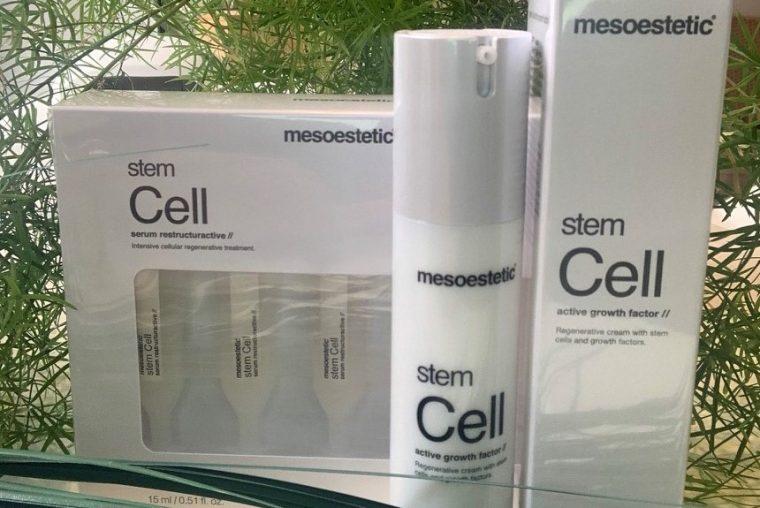 Billede af tre pakker Stem Cell hudpleje fra Maluesommer Wellness