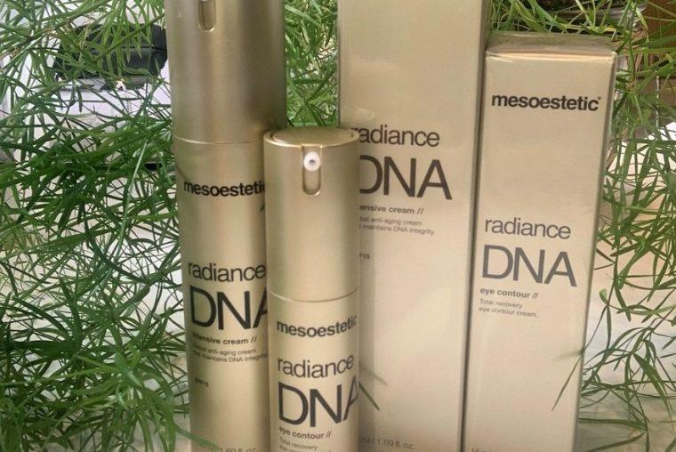 Fire produkter med Global Anti-Aging Solution fra MESOESTETIC® hos Malue Sommer Wellness