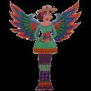 Engel maskot som er inspireret af mexicansk graffiti kunst. Malue sommer site maskot.