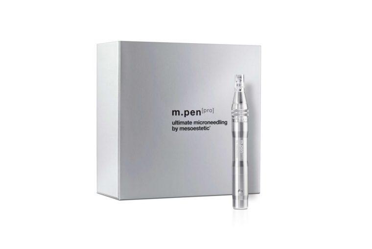 Mesoestectic pen for at vise hvilket udstyr Malue Sommer udnytter til microneedling