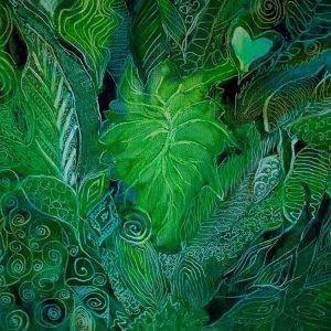 Grøn maleri af planter. Profil billede for Akua's testimonial.